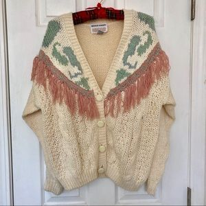 Vintage Fringe Heavyweight Cardigan